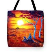 African Sunset Meditation Tote Bag