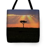 African Sunset Rays Tote Bag