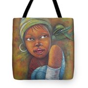 African Woman Portrait- African Paintings Tote Bag