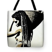 African Woman With Basket Tote Bag