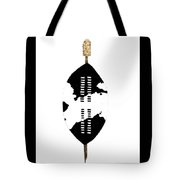 African Zulu Warrior Shield Tote Bag