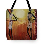 Afro Abstract Tote Bag