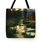 After Morning Rain Tote Bag