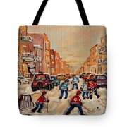 After School Hockey Game Tote Bag