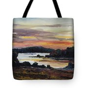 After Sunset At Lake Fleesensee Tote Bag