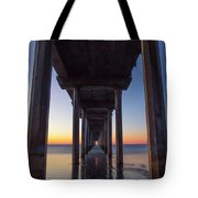 After Sunset At Scripps Pier Tote Bag