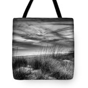 After Sunset In B And W Tote Bag