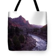 After Sunset The Light Glows Tote Bag