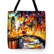 After The River Turns Tote Bag