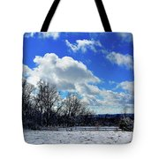 After The Snow Storm Tote Bag