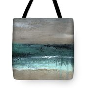After The Storm 2- Abstract Beach Landscape By Linda Woods Tote Bag
