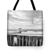 After The Storm Black And White Tote Bag