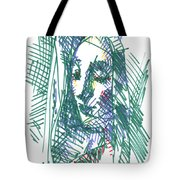 After Vermeer - Face Of Woman Holding A Balance Tote Bag