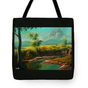 Afternoon By The River With Peaceful Landscape L A S Tote Bag