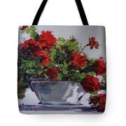 Afternoon Geraniums Tote Bag