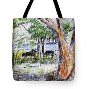 Afternoon Siesta On The Farm Tote Bag