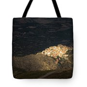 Afternoon Sun Lighting Up Village Of Speloncato In Corsica Tote Bag