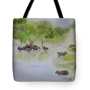 Afternoon Swim Tote Bag