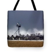 Against The Breakers Tote Bag