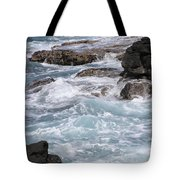 Against The Rocks Tote Bag