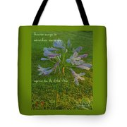 Agapanthus Dawn Tote Bag