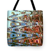 Agate Beach Tree Abstract Tote Bag