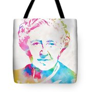 Agatha Christie Watercolor Tribute Tote Bag