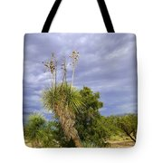 Agave Cactus And A Purple Sky Tote Bag