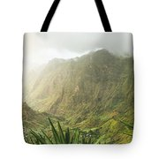 Agave Plants And Rocky Mountains. Santo Antao. Tote Bag