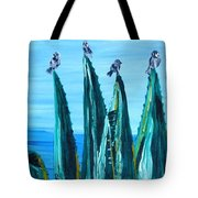 Agave With Sparrows Tote Bag