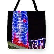 Agbar Tower In Barcelona Tote Bag