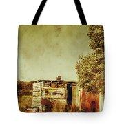 Aged Australia Countryside Scene Tote Bag