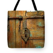 Aged Latch Tote Bag