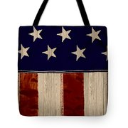 Aged Rustic American Flag Tote Bag