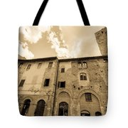 Aged San Gimignano Tote Bag