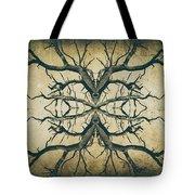 Aged Sepia Tree Dual Tote Bag