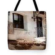 Aged Stucco Building Balcony With Terracotta Roof Tote Bag
