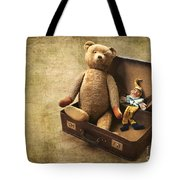 Aged Toys Tote Bag