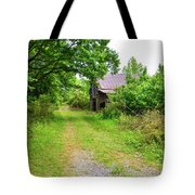 Aging Barn In Woods Tote Bag
