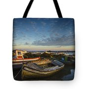 Aging Boats On Trocadero Pipe Puerto Real Cadiz Spain Tote Bag