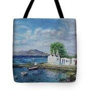 Agios Ioannis Beach, Mykonos Greece Tote Bag