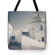 Agios Minas Santorini Bw Tote Bag