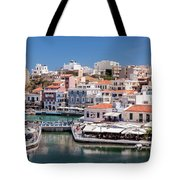 Agios Nikolaos Lagoon Entrance Tote Bag