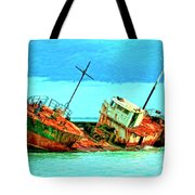 Aground Off Jamaica Tote Bag