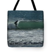 Ahead Of The Curl Tote Bag