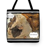 Ahh Guinea Pig Greetings Tote Bag
