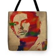 Aidan Turner As Poldark Watercolor Portrait Tote Bag