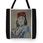 Ainu Woman -- Portrait Of Ethnic Asian Woman Tote Bag