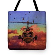 Air Cavalry Bell Uh-1 Huey  Tote Bag
