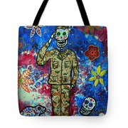 Air Force Day Of The Dead Tote Bag